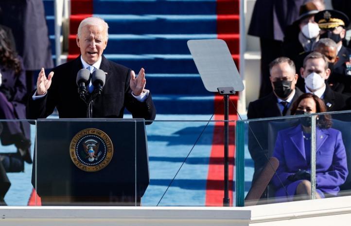 بايدن بعد اداء اليمين الدستورية رئيسا للولايات المتحدة : الديمقراطية انتصرت