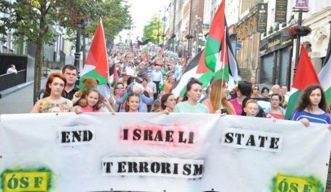 الشباب الجمهوري الايرلندي يتضامنون مع اسرى فلسطين
