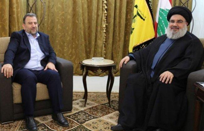 نصر الله والعاروري يبحثان عدوان الاحتلال على غزة