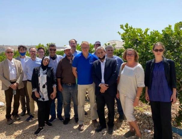 رؤساء التعاون الأوروبي يزورون محافظة قلقيلية