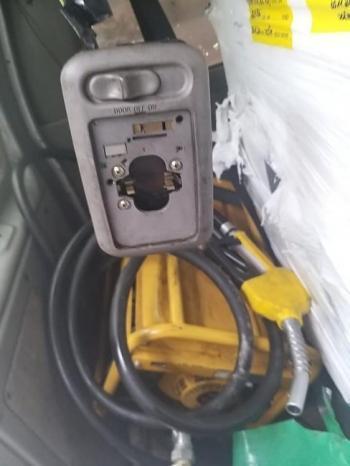 ضبط محطة وقود متنقلة تستخدم في عمليات التهريب و2000 لتر من السولار المهرب في محافظة سلفيت