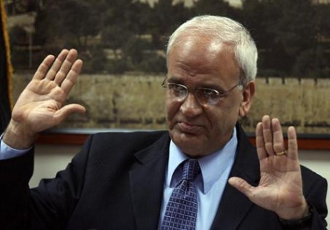 """عريقات: طريق السلام تبدأ بإنهاء الاحتلال ودولة فلسطين على حدود 1967 تعيش بأمن إلى جانب """"إسرائيل"""""""