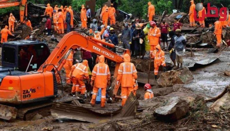 الهند: مقتل 129 شخصا في انهيارات أرضية