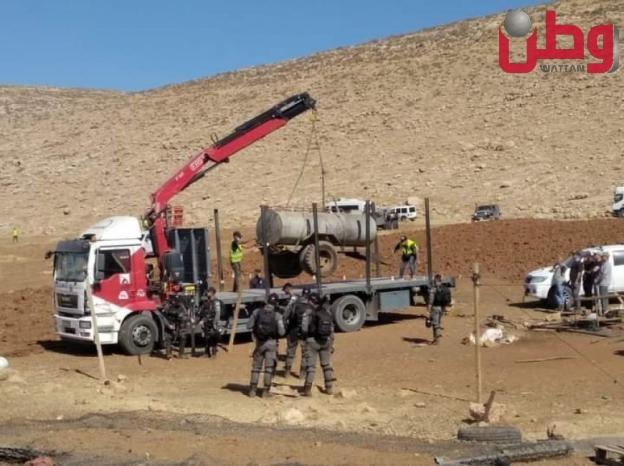 الاحتلال يهدم منشآت بدوية قرب المغيّر شمال رام الله