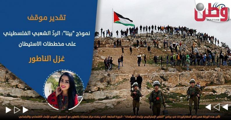 """نموذج """"بيتا"""": الردّ الشعبي الفلسطيني على مخططات بداية"""