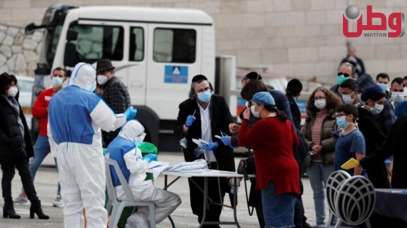 صحة الاحتلال: 8,310 إصابة جديدة بكورونا و703 حالات خطيرة