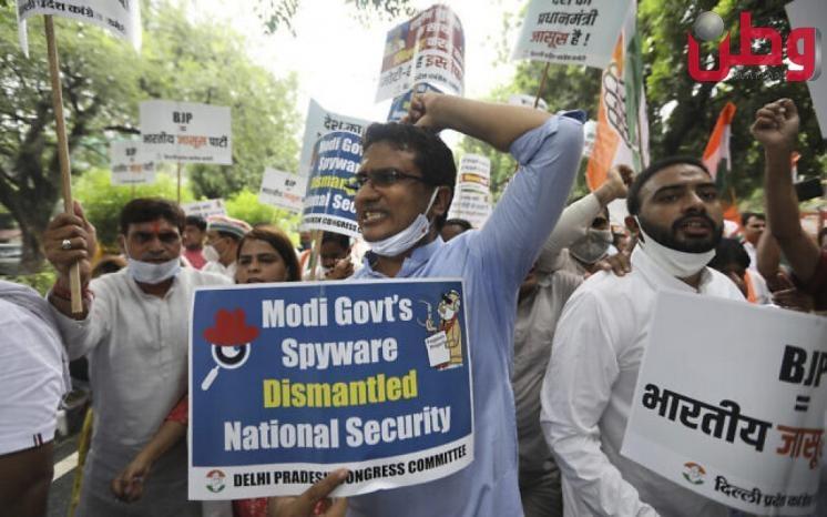 غضب هندي بعد الكشف عن برنامج اسرائيلي استخدم في التجسس على معارضين