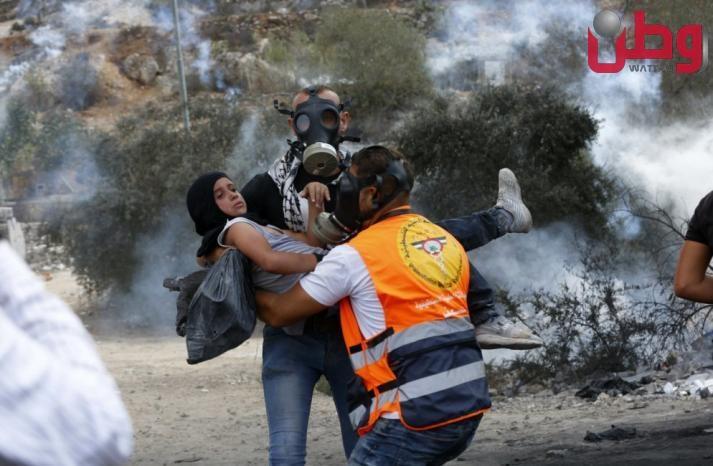 317 اصابة في مواجهات بلدة بيتا بنابلس