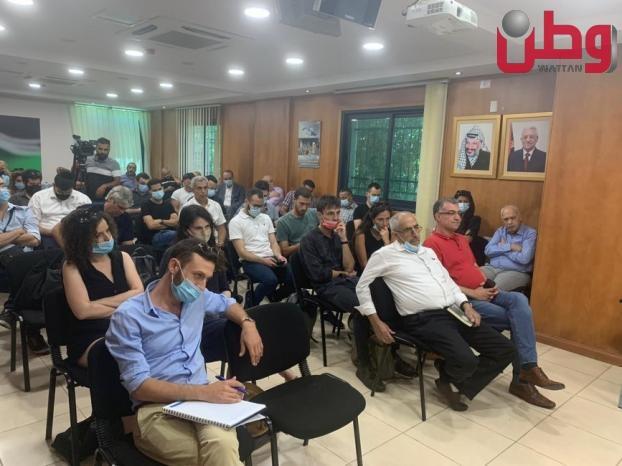 نقابة الصحفيين تدين لقاءً تطبيعياً في رام الله - وكالة وطن للأنباء