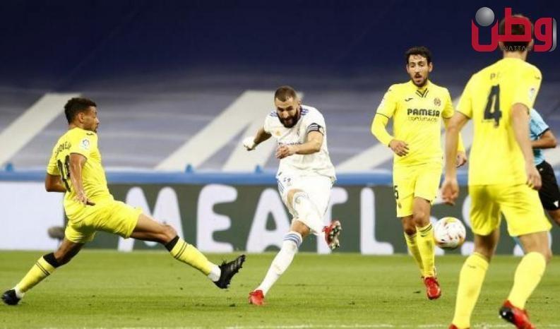 """فياريال يفرض التعادل على ريال مدريد في """"البرنابيو"""""""
