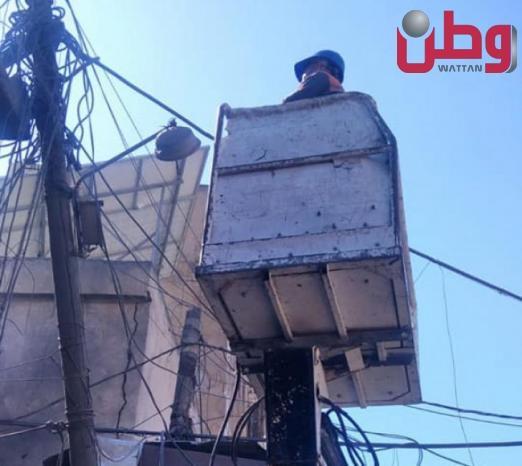 كهرباء غزة: عودة التيار الكهربائي في مكان انفجار سوق الزاوية