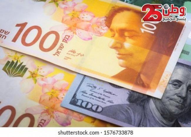 صرف العملات اليوم مقابل الشيكل