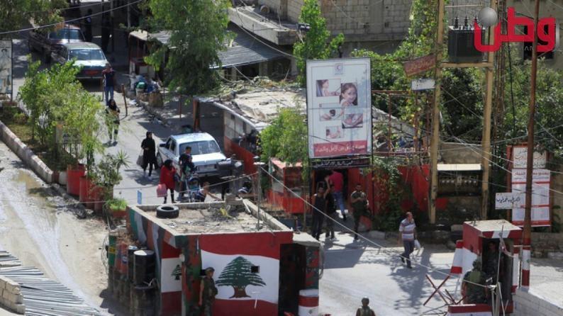 اشتباكات مسلحة في مخيم عين الحلوة في لبنان