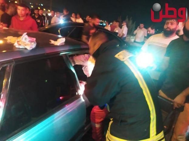 5 إصابات في حادث سير على مدخل عرابة جنوب جنين
