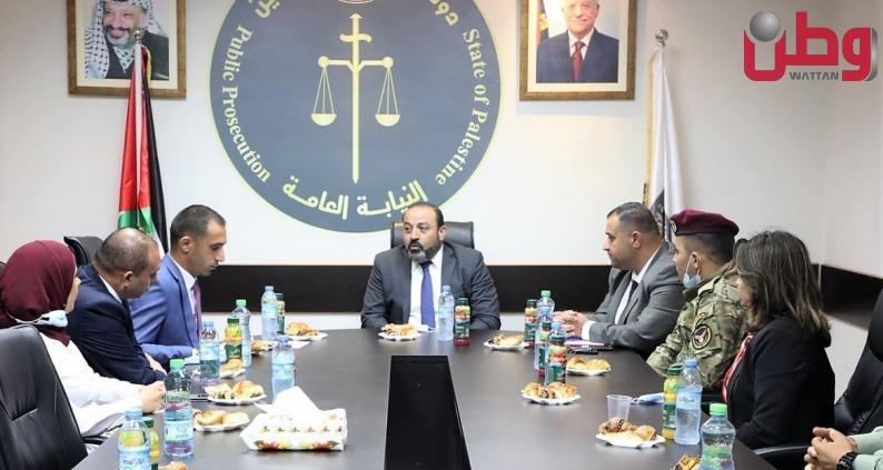 النائب العام المستشار أكرم الخطيب يلتقي وفداً من جامعة الاستقلال