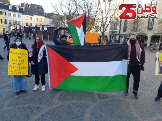 وقفة بهولندا تضامنًا مع الشعب الفلسطيني