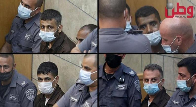 محكمة الاحتلال تعقد جلسة لتمديد اعتقال محرري جلبوع الأربعة