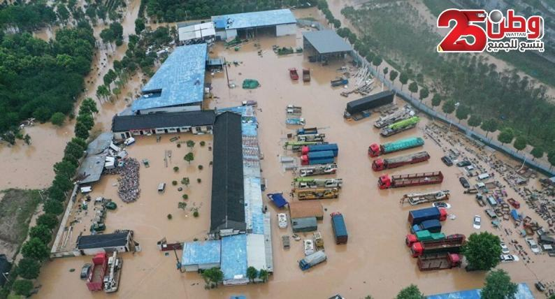 مقتل 12 شخصًا في أمطار مدمرة اجتاحت الصين