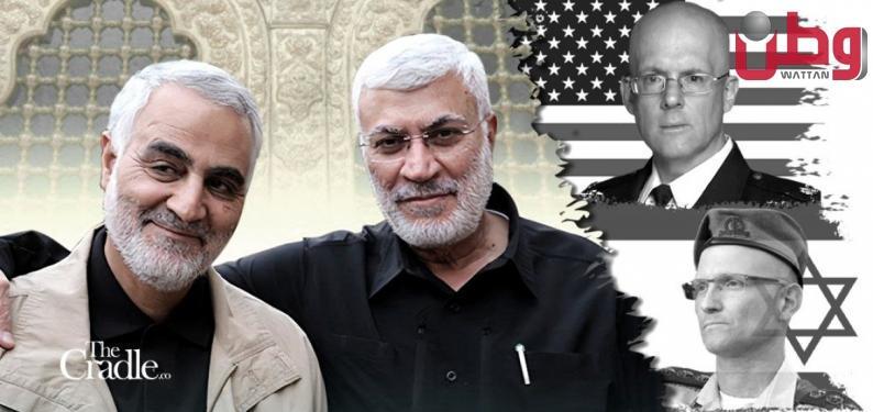 """""""محور المقاومة"""" ينتقم لقاسم سليماني بقتل ضابطين أمريكي وإسرائيلي متورطين في اغتياله بالعراق"""