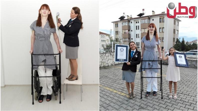 تركية تدخل غينيس كأطول امرأة في العالم