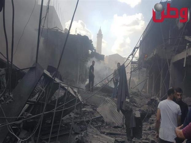 """العمل الحكومي في غزة : """"شكلنا لجنة تحقيق للوقوف على ملابسات انفجار سوق الزاوية """""""