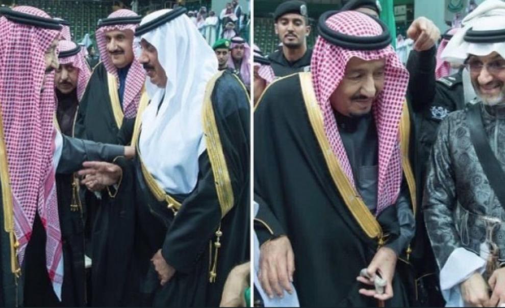 لأول مرة بعد الإفراج عنه.. الوليد بن طلال والملك سلمان معا