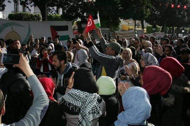 تونس: فعاليات تضامنية مع فلسطين رافضة لقرار ترامب حول القدس -