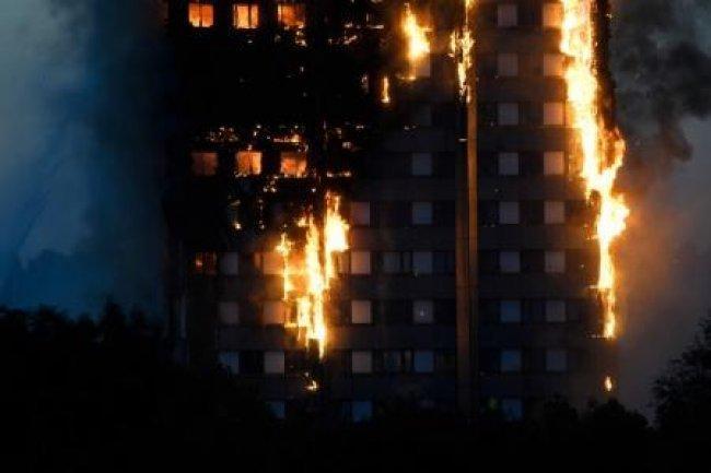 حريق ضخم في برج سكني بطهران