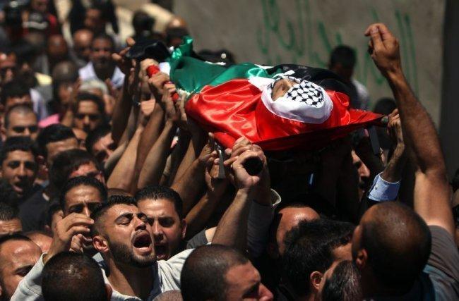 تشيع الشهيد  محمود الغرابلي  في غزة -